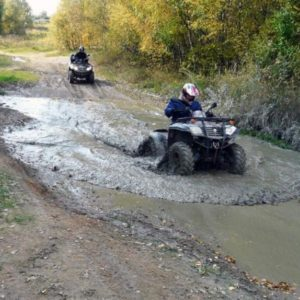Extrémní jízda na čtyřkolce Vysočina