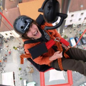 SCAD diving - volný pád z 50 metrů bez lana Praha