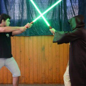 Výcvik boje se světelným mečem
