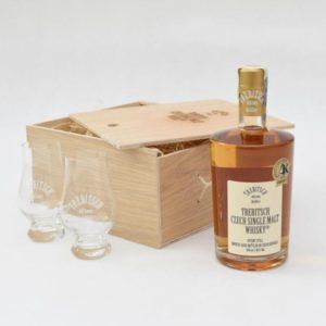 Dárkové balení whisky Trebitsch + 2 skleničky Celá ČR