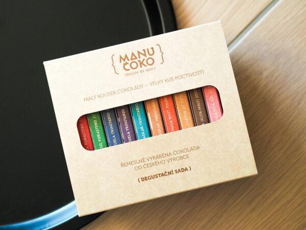 Dárková sada 10 řemeslných čokolád