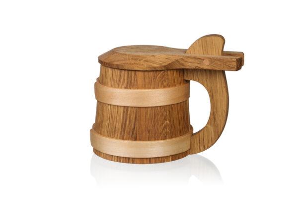 Dřevěný korbel: dekorační